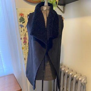 Faux fur / suede vest